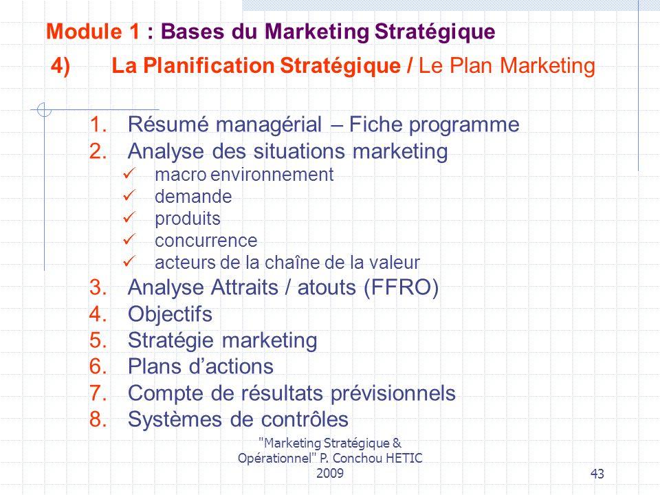 La Planification Stratégique / Le Plan Marketing