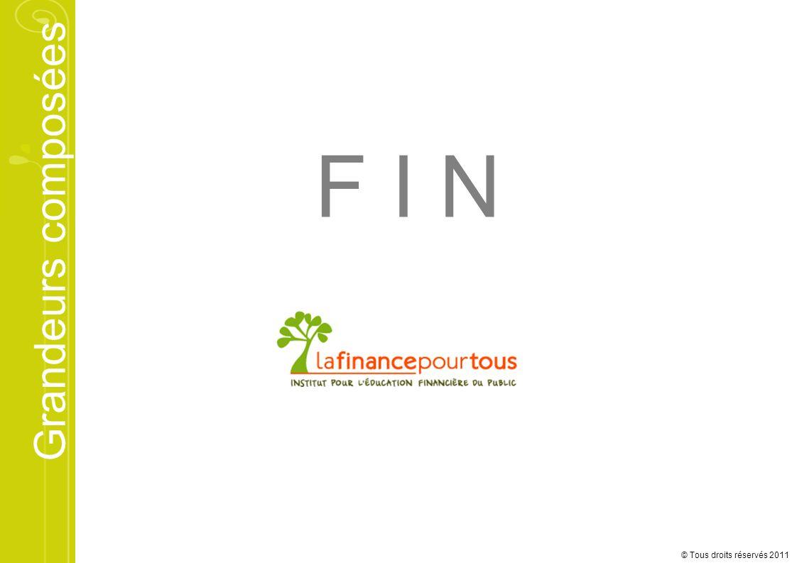 F I N © Tous droits réservés 2011