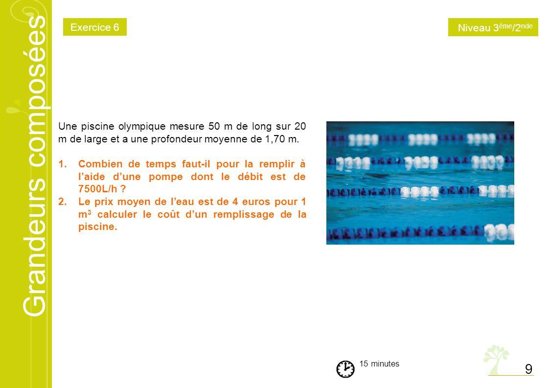 9 Exercice 6 Niveau 3ème/2nde
