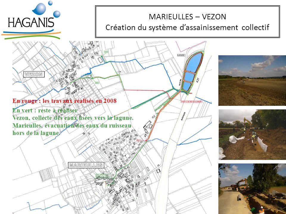 MARIEULLES – VEZON Création du système d'assainissement collectif