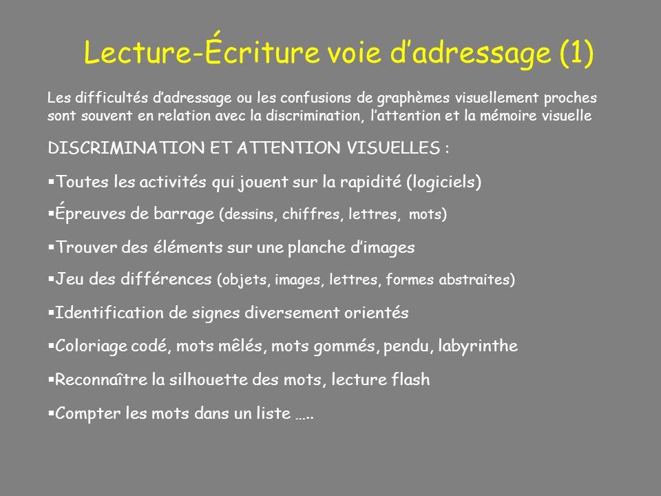 Lecture-Écriture voie d'adressage (1)