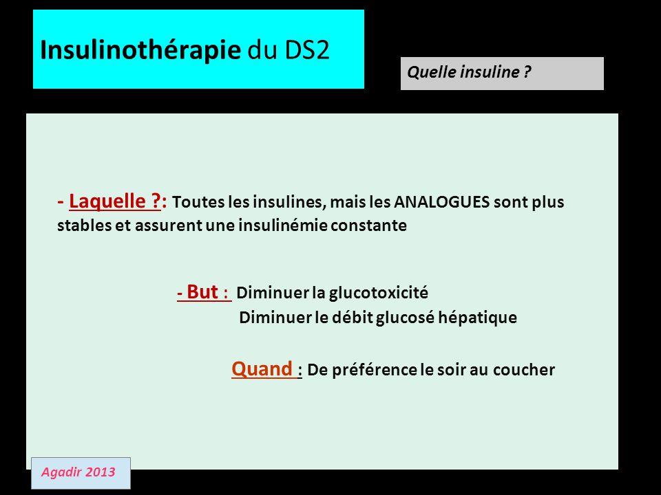 Insulinothérapie du DS2