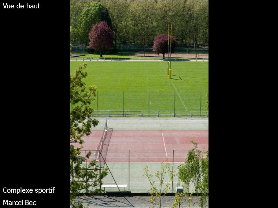 Vue de haut Complexe sportif Marcel Bec
