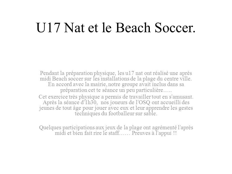 U17 Nat et le Beach Soccer.