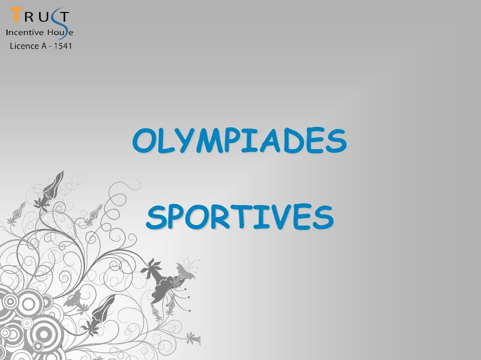 OLYMPIADES SPORTIVES