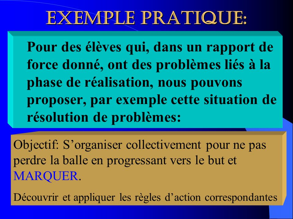 EXEMPLE PRATIQUE: