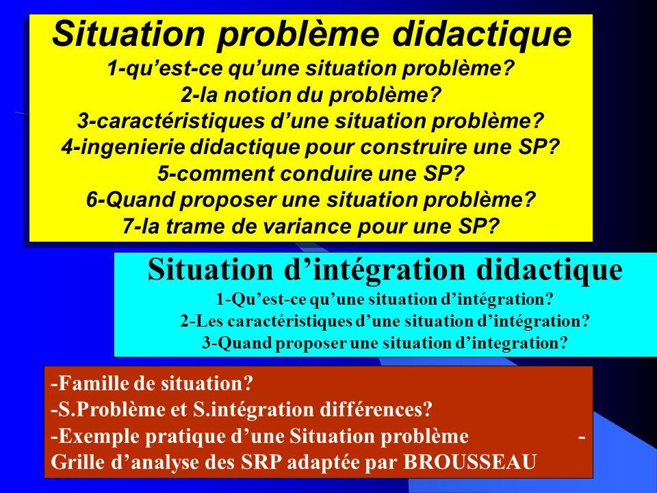 Situation problème didactique 1-qu'est-ce qu'une situation problème