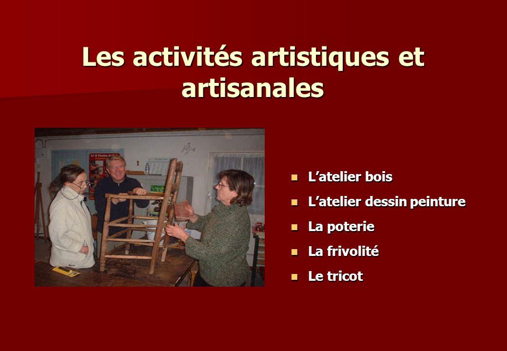 Les activités artistiques et artisanales