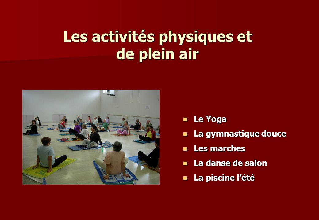 Les activités physiques et de plein air