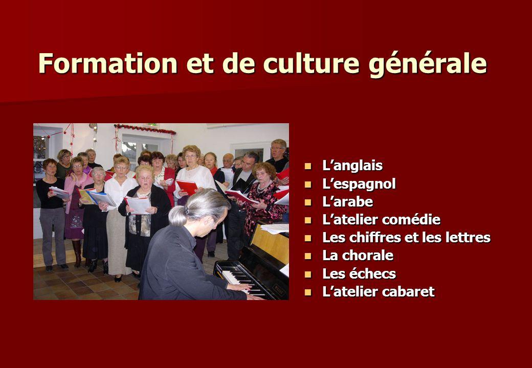 Formation et de culture générale