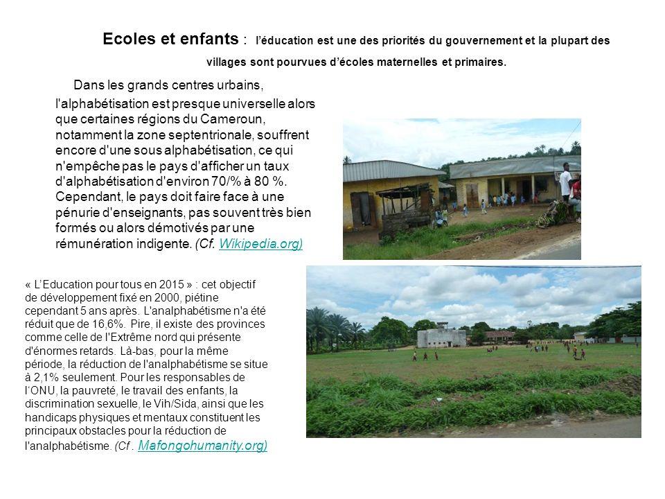 Ecoles et enfants : l'éducation est une des priorités du gouvernement et la plupart des villages sont pourvues d'écoles maternelles et primaires.