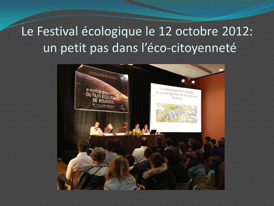 Le Festival écologique le 12 octobre 2012: un petit pas dans l'éco-citoyenneté