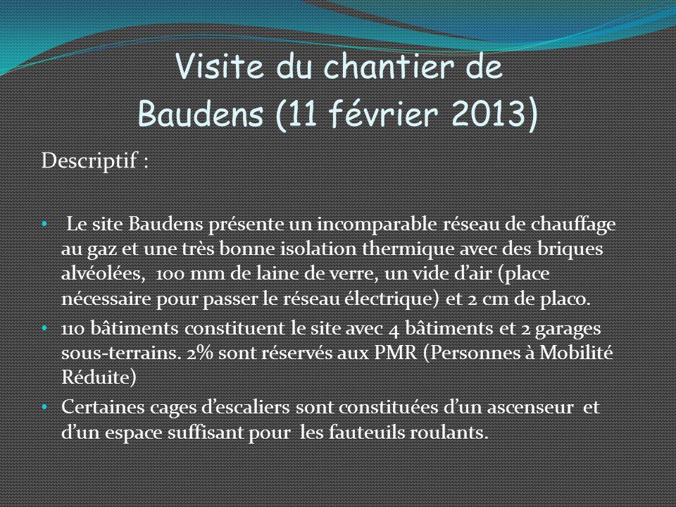 Visite du chantier de Baudens (11 février 2013)