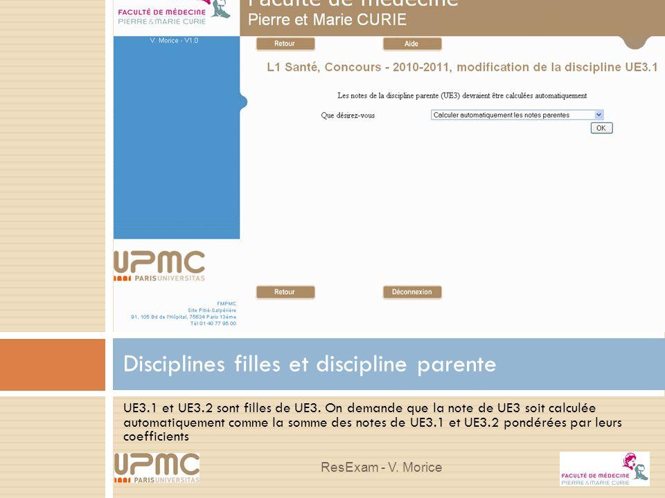 Disciplines filles et discipline parente
