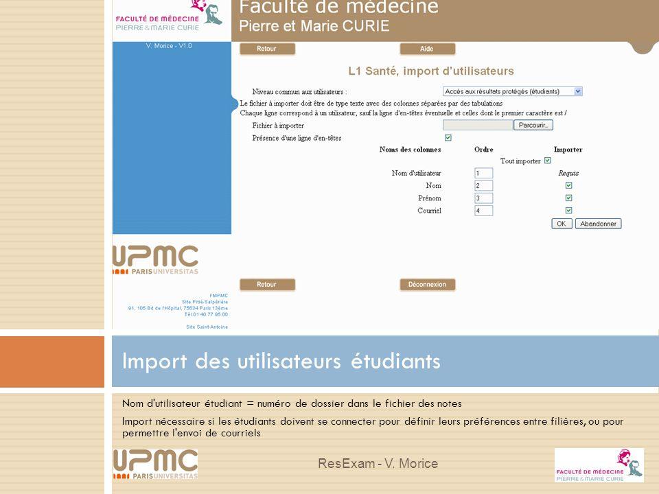 Import des utilisateurs étudiants