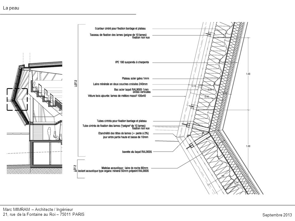 La peau Marc MIMRAM – Architecte / Ingénieur