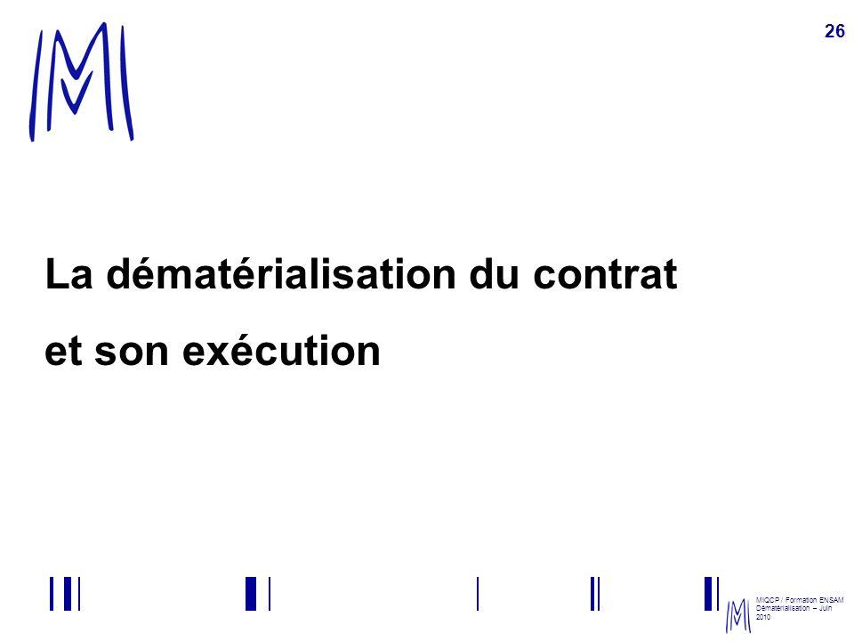 La dématérialisation du contrat et son exécution
