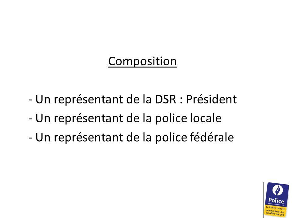 Composition - Un représentant de la DSR : Président.