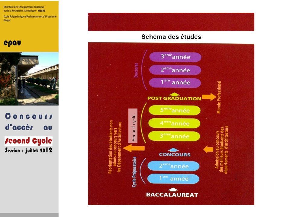 Schéma des études Second cycle