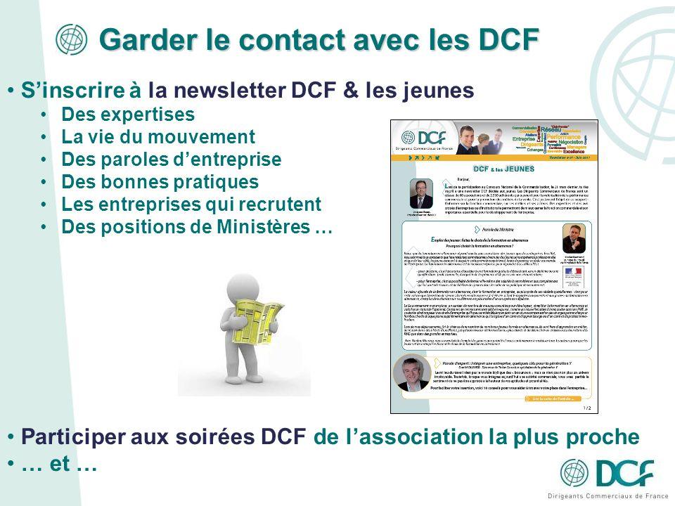 Garder le contact avec les DCF