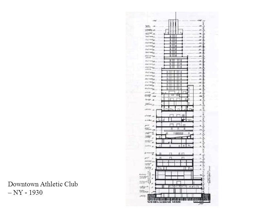 Downtown Athletic Club – NY - 1930