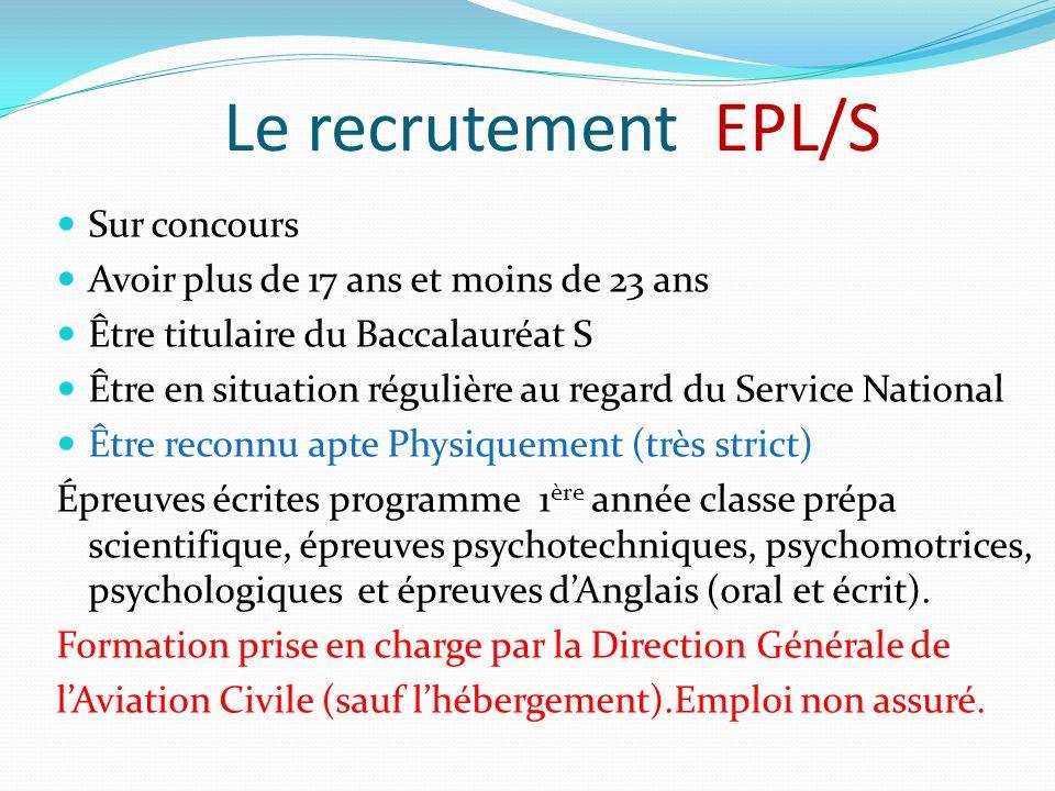 Le recrutement EPL/S Sur concours