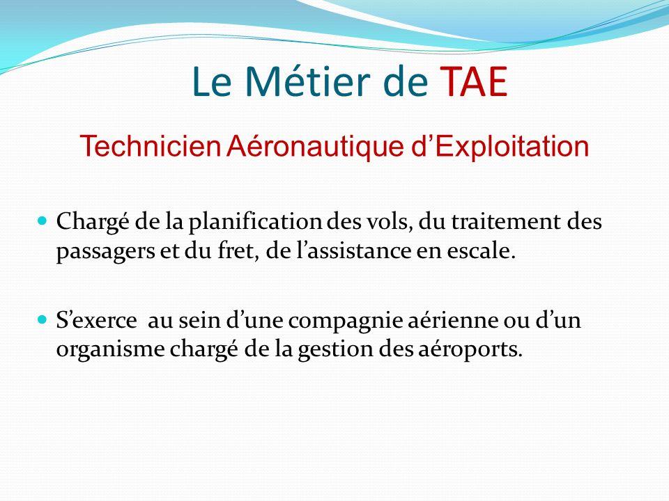 Technicien Aéronautique d'Exploitation