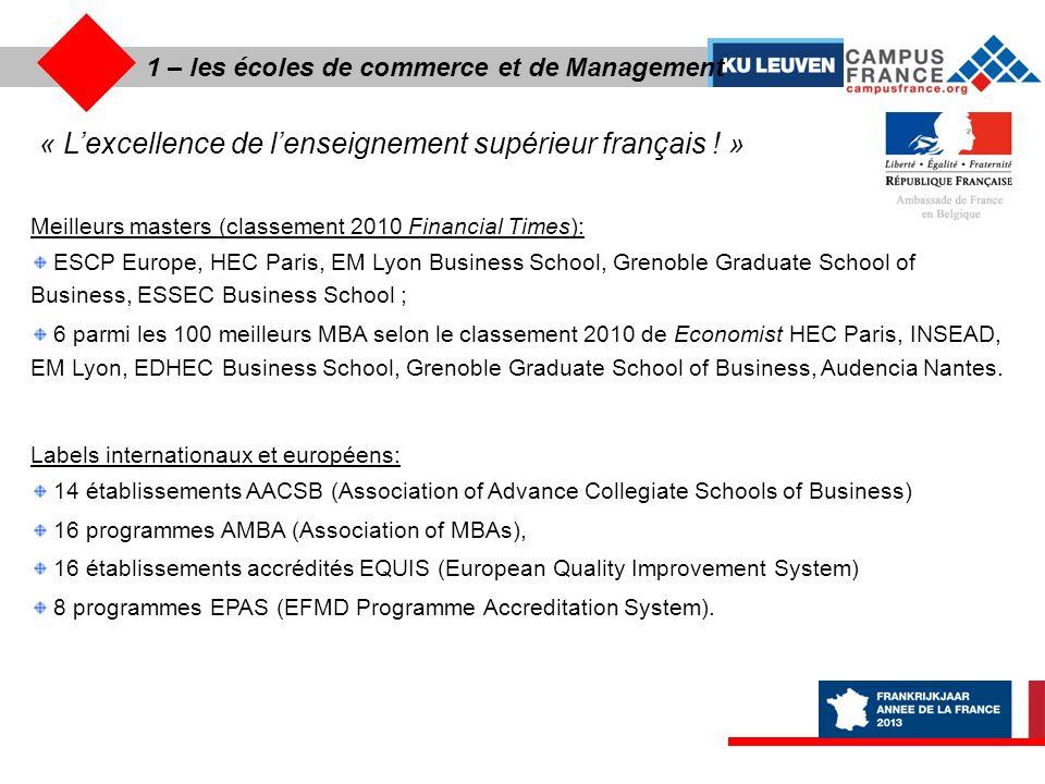 « L'excellence de l'enseignement supérieur français ! »