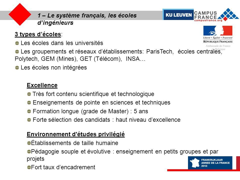 1 – Le système français, les écoles d'ingénieurs