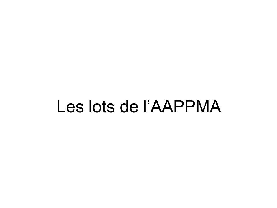 Les lots de l'AAPPMA