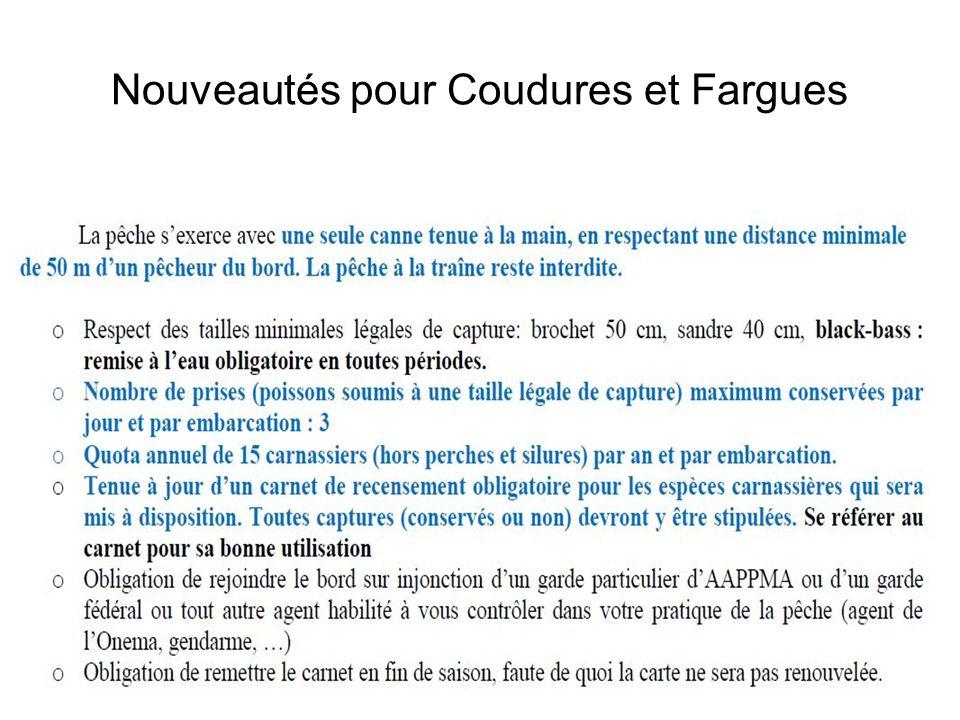 Nouveautés pour Coudures et Fargues