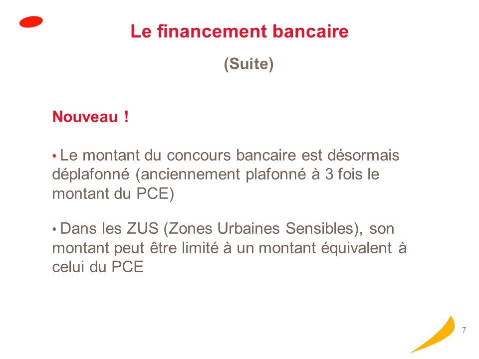 Le financement bancaire (suite)