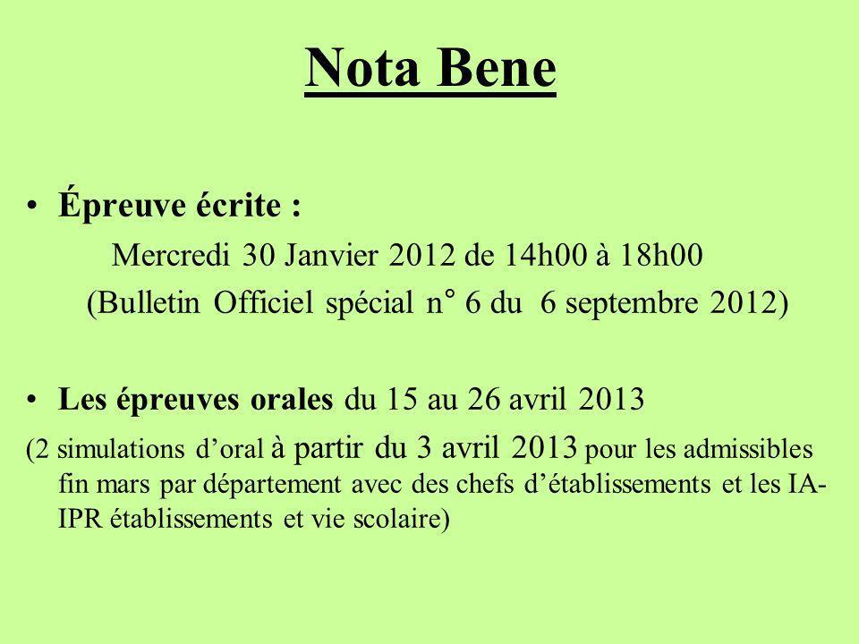 (Bulletin Officiel spécial n° 6 du 6 septembre 2012)