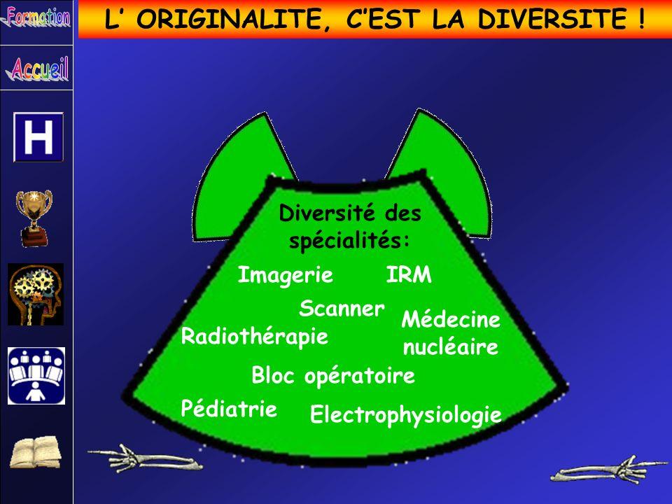 L' ORIGINALITE, C'EST LA DIVERSITE ! Diversité des spécialités: