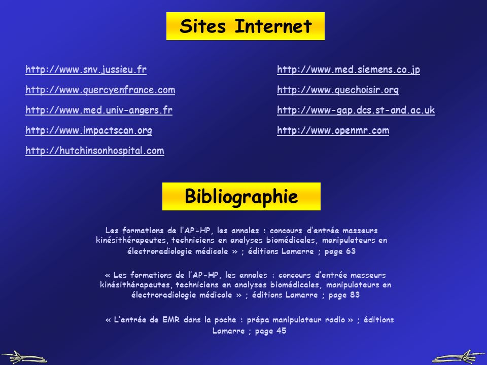 Sites Internet Bibliographie
