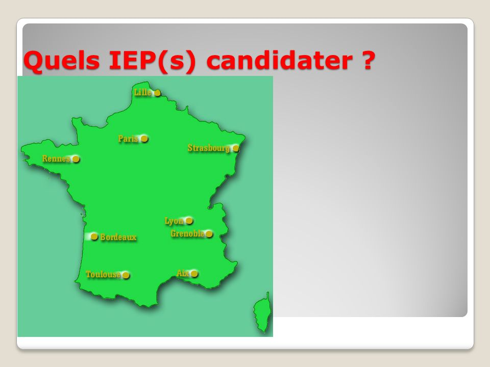 Quels IEP(s) candidater