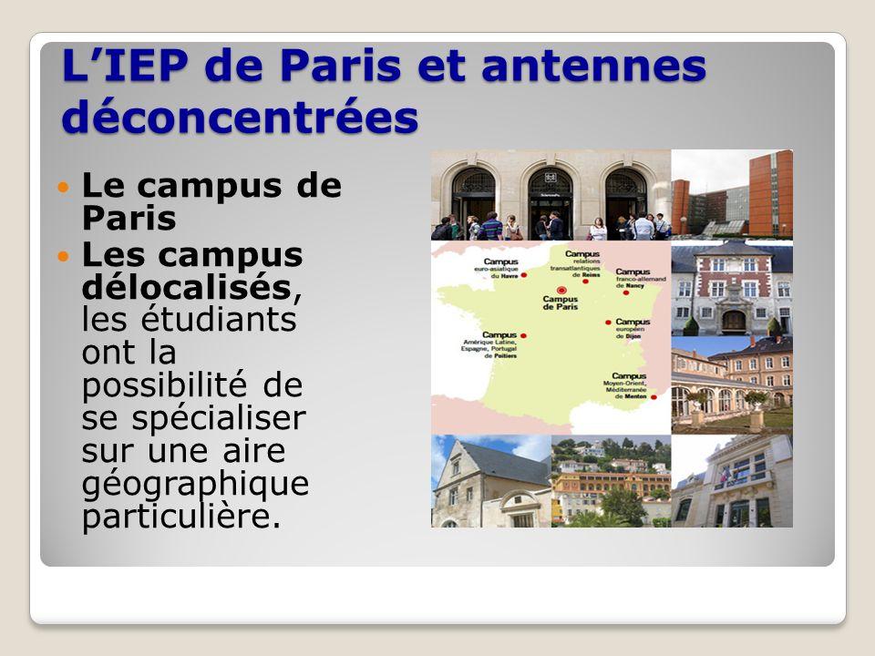 L'IEP de Paris et antennes déconcentrées