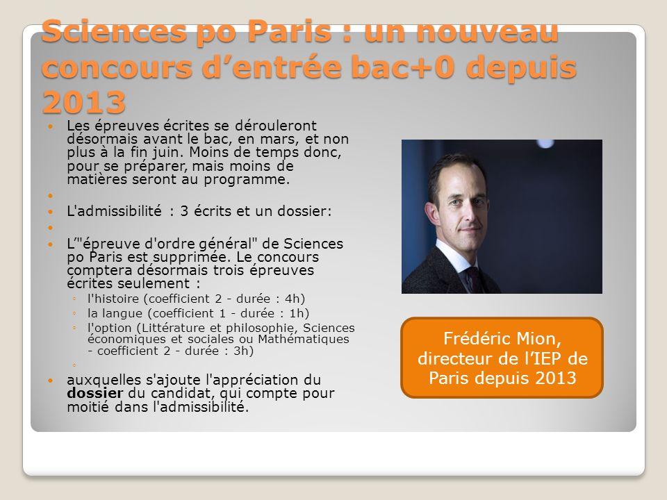 Sciences po Paris : un nouveau concours d'entrée bac+0 depuis 2013