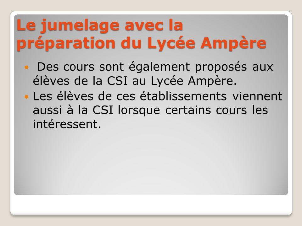 Le jumelage avec la préparation du Lycée Ampère