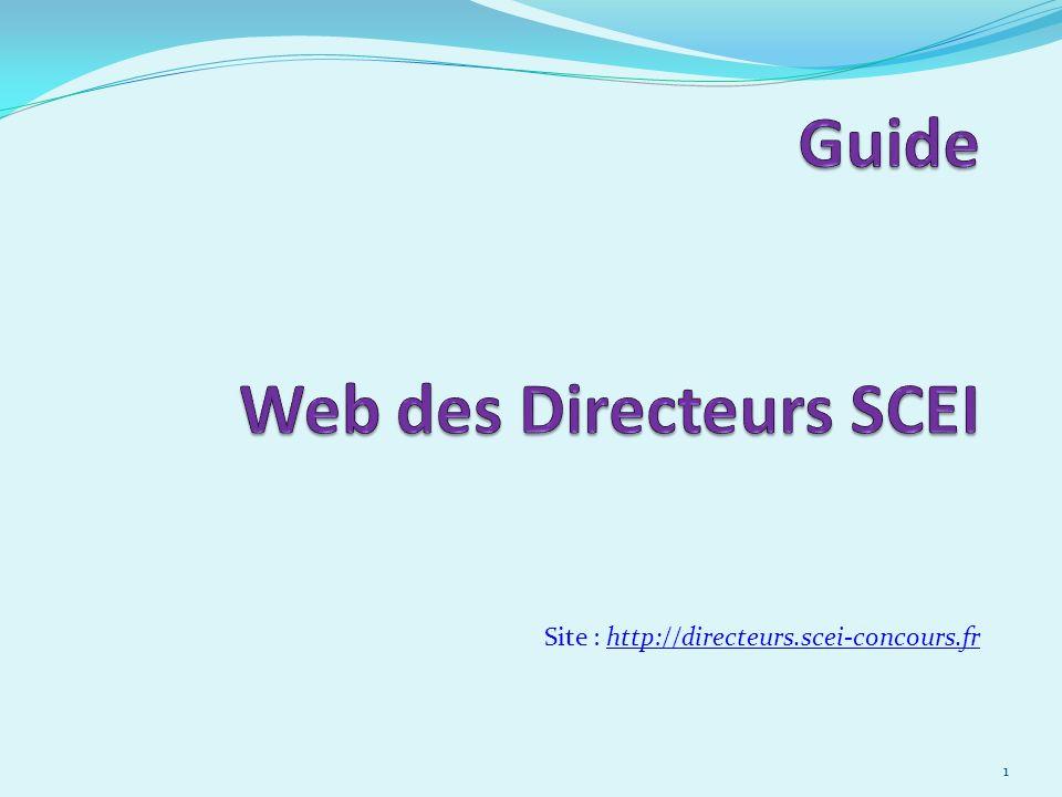 Guide Web des Directeurs SCEI