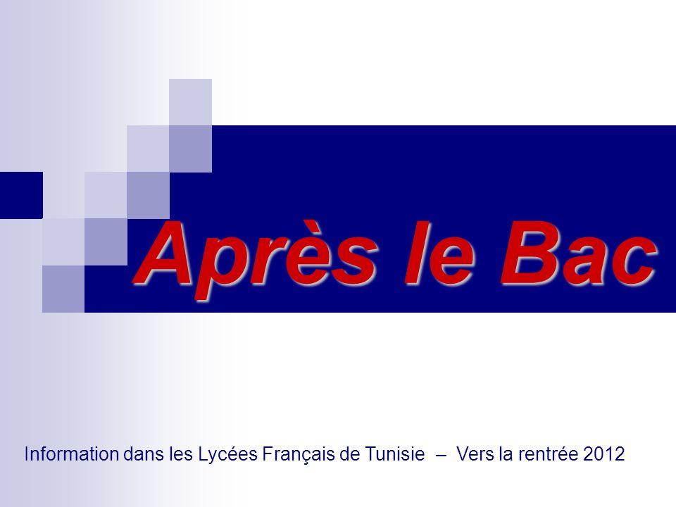Information dans les Lycées Français de Tunisie – Vers la rentrée 2012