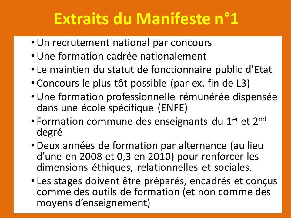Extraits du Manifeste n°1