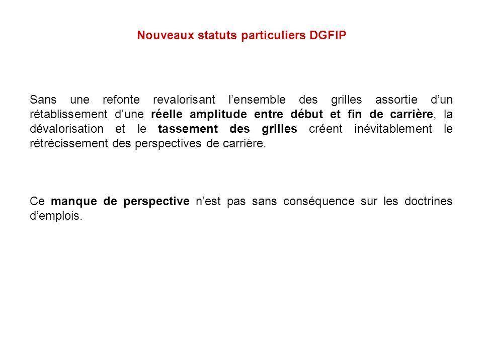 Nouveaux statuts particuliers DGFIP