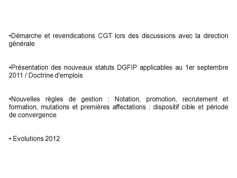Démarche et revendications CGT lors des discussions avec la direction générale