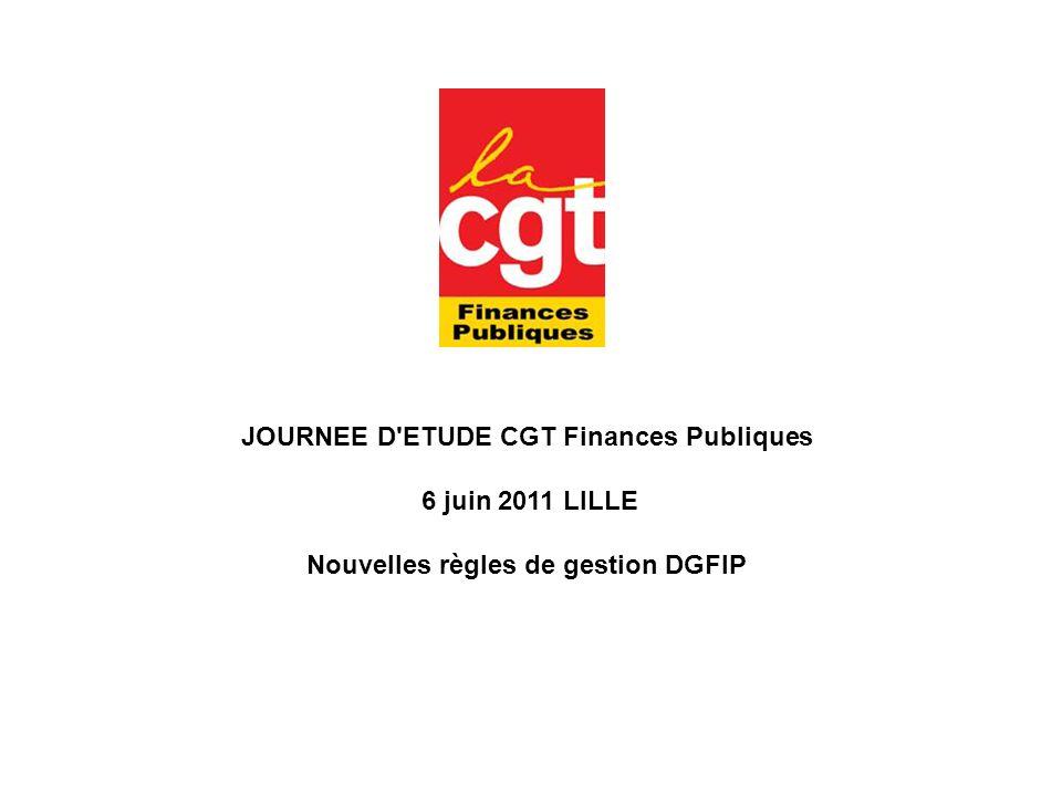 JOURNEE D ETUDE CGT Finances Publiques