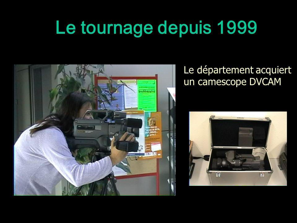 Le tournage depuis 1999 Le département acquiert un camescope DVCAM