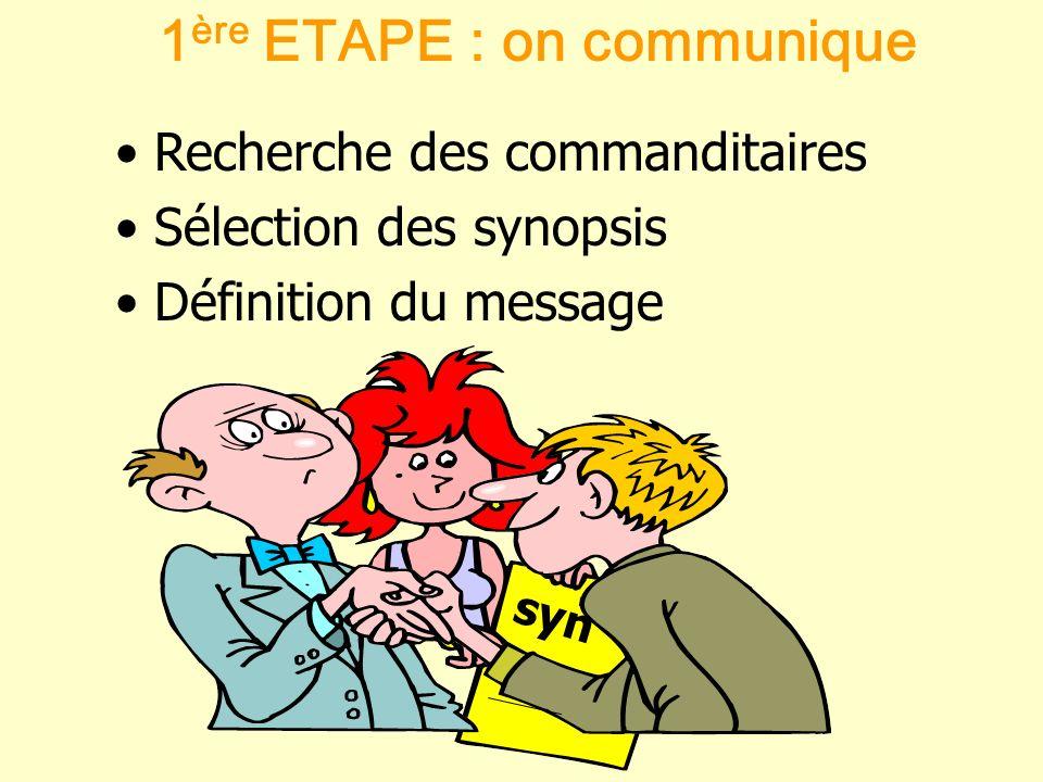 1ère ETAPE : on communique