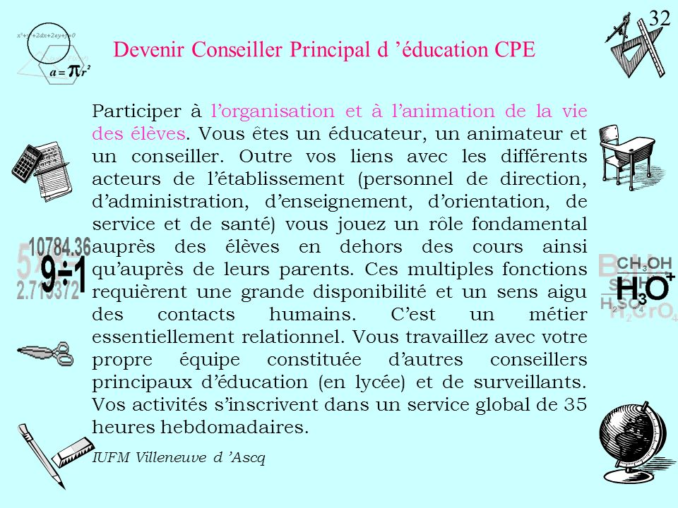 Devenir Conseiller Principal d 'éducation CPE