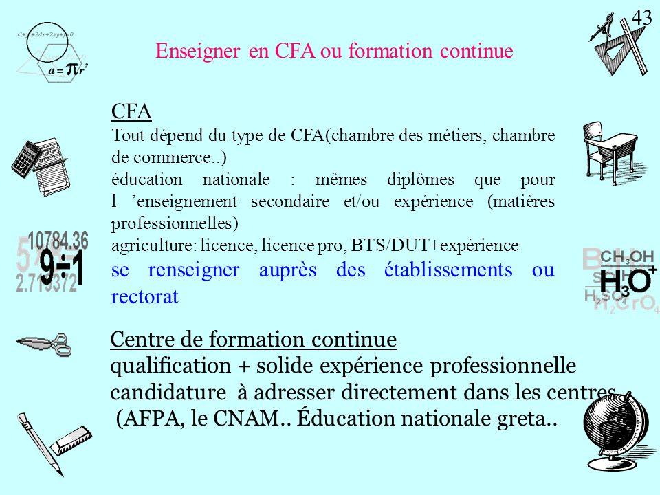 Enseigner en CFA ou formation continue
