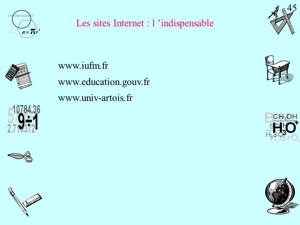 Les sites Internet : l 'indispensable